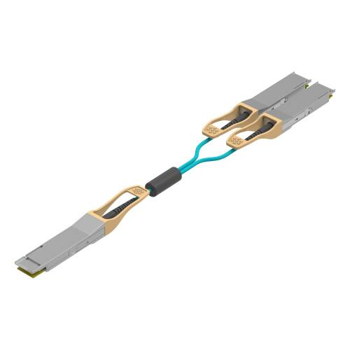 200Gbase-Sr4 200G Qsfp-56 To 2 X qsfp28 Breakout Om4 Multimode Aoc Cable (Active Optical Cable ) JT-QSFP56-QSFP28-200G-AOC-XX AOC Cable