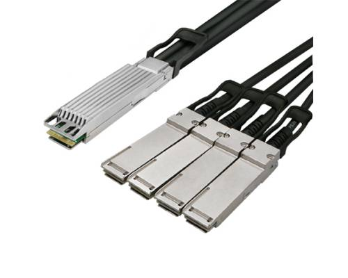 400gbase-sr4 400g osfp to 4xqsfp28 breakout twinax copper dac cable (direct attached cable)