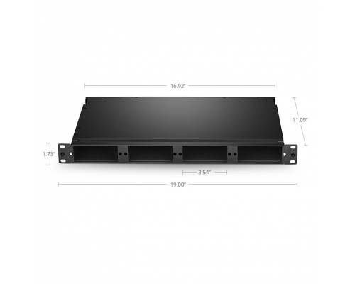 96 fibers rack mount fhd high density fms / liu / odf unloaded, 1u holds up to 4x fhd cassettes