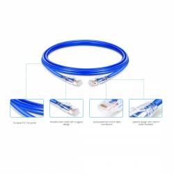 Cat6 rj45 patch cord utp 28awg ulta slim pvc jacket xx meter length blue color