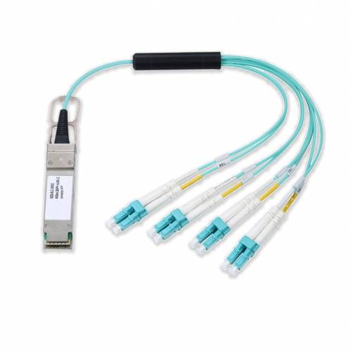 40g qsfp+ to 4xlc dx om2 multimode aoc cable (active optical cable )