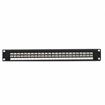 CAT5 STP PATCH PANEL 24 PORT FULLY LOADED