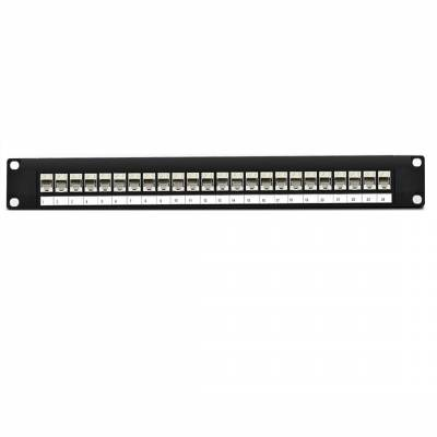 CAT6 STP PATCH PANEL 24 PORT FULLY LOADED