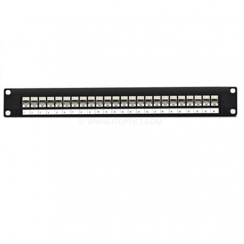 24 port cat6 stp patch panel loaded for shilded cat6 copper cable