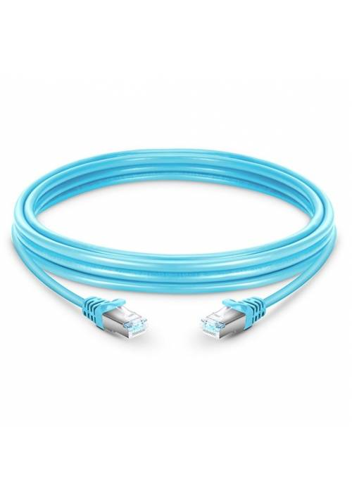 CAT6A RJ45 STP PATCH CORD SKY BLUE COLOR