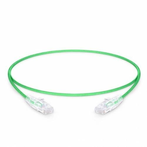Cat6 rj45 patch cord utp 28awg ulta slim pvc jacket xx meter length green color