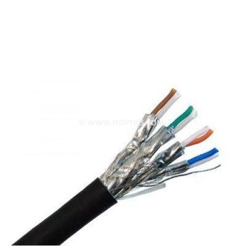 category 7e 4 pair stp 26awg outdoor pvc bulk cable