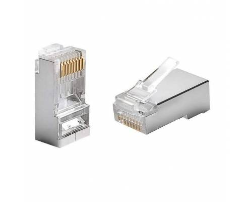 Cat6 stp rj45 connector or cat6 8p8c stp connector Pack of 100Pc