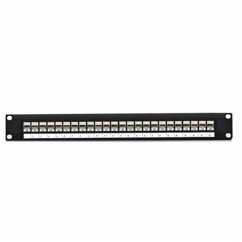 24 port Cat5 stp patch panel fully loaded for shielded cat5e copper cable