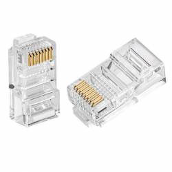 Cat5 utp rj45 connector or cat5e 8p8c connector for rj45 Pack of 100Pc