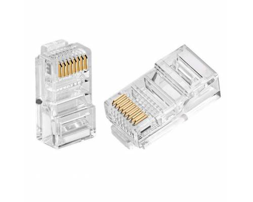Cat6 utp rj45 connector or cat6 8p8c connector Pack of 100Pc