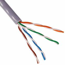 Cat5e 4 pair twisted wire utp 24awg pure copper unshielded pvc bulk cable 305 meter