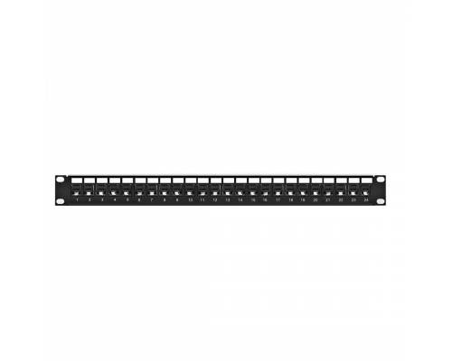 Cat6 utp patch panel 24 port fully loaded for unshilded copper cable