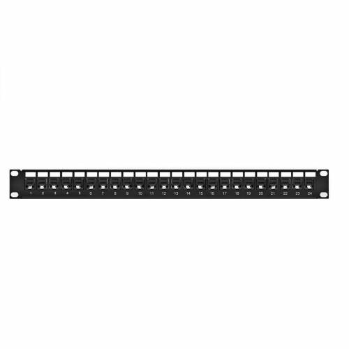 24 port cat6 utp patch panel fully loaded for unsielded cat6e copper cable