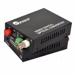 1 channel analog camera video with ptz data to single mode optical fiber converter, fc, 1310nm, 20km Pair