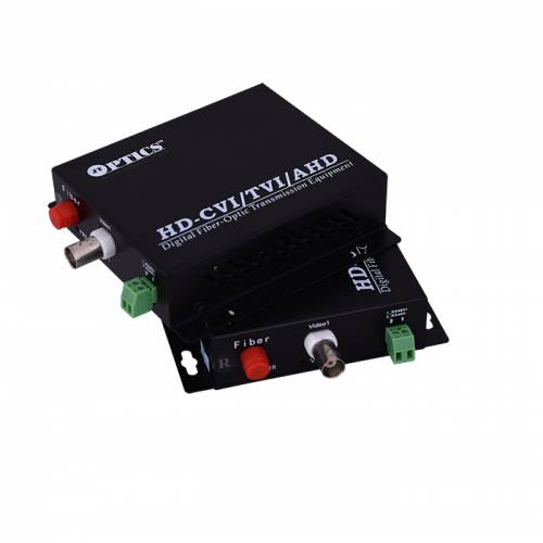 1 Channel Ahd Hdcvi Hdtvi Camera Video Fiber Optical Transmitter Receiver With Rs485 Return Data, 1080P, Smf, Fc, 20Km Pair JTHDVC1V1DSFC20EU Video Media Converter