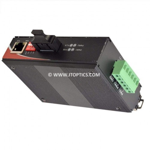 INDUSTRIAL MEDIA CONVERTER 100M ETHERNET OVER SINGLE MODE FIBER 20KM