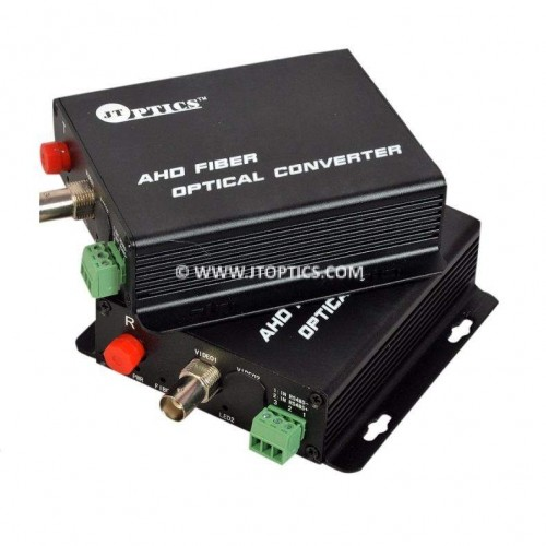 AHD video to optical converter single mode 20km – 1 channel 1080p - pair