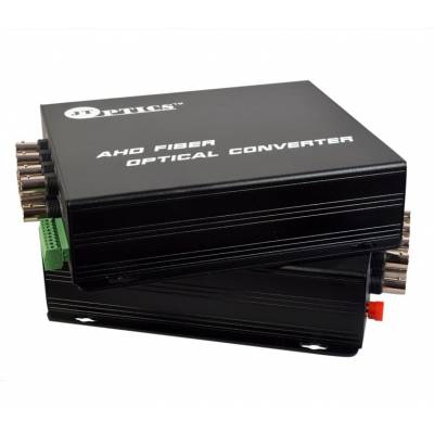 AHD VIDEO TO OFC CONVERTER SINGLE MODE 20KM – 8 CHANNEL 720P - PAIR