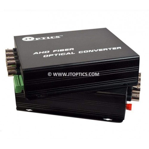 AHD video to optcal converter single mode 20km – 8 channel 1080p - pair