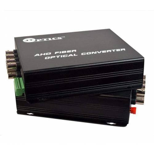 8 CH AHD VIDEO AND RS485 RETURN DATA TO SINGLE MODE FIBER CONVERTER UPTO 20KM