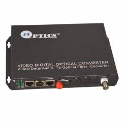 1 ch analog cctv video and audio to single mode ofc media converter 20km - transmitter and receiver