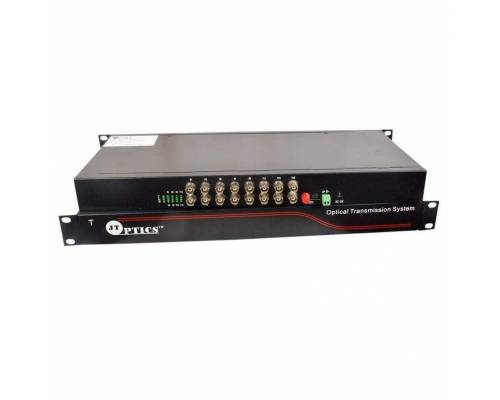 16 channel analog cctv video and rs485 ptz data to single mode optical fiber converter 20km - transmitter and receiver