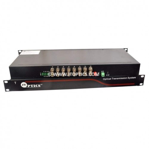 16 channel analog cctv video and rs485 ptz data to single mode optical fiber converter upto 20km - transmitter and receiver