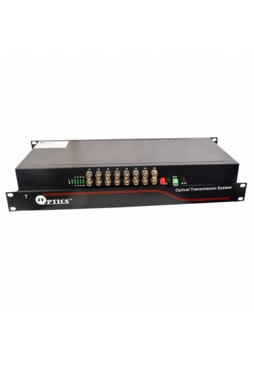 16 CHANNEL CCTV VIDEO TO OFC CONVERTER SINGLE MODE 20KM - PAIR