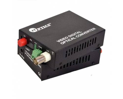 1 channel analog cctv video and rs485 ptz data to single mode optical fiber converter 20km - transmitter and receiver
