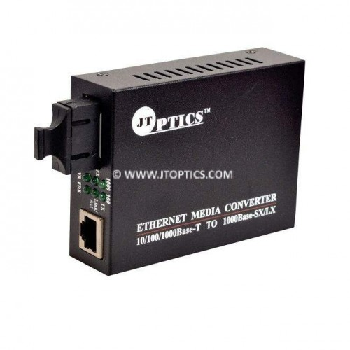Media converter Gigabite over single mode dual fiber with SC connector upto 20km - unmanaged