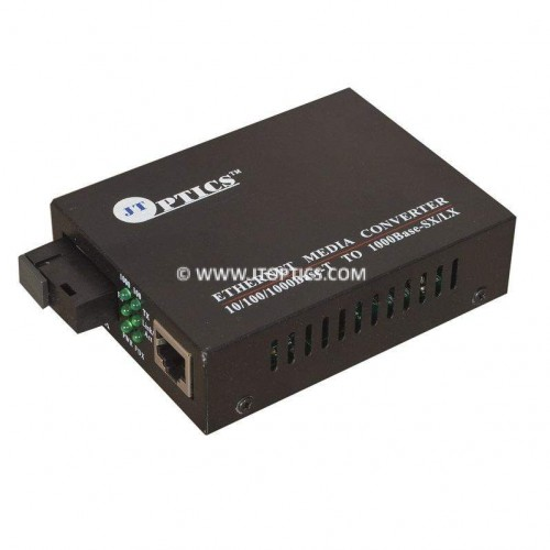 OPTICAL FIBER MEDIA CONVERTER GIGABITE ETHERNET OVER SINGLE MODE SINGLE FIBER UPTO 20KM