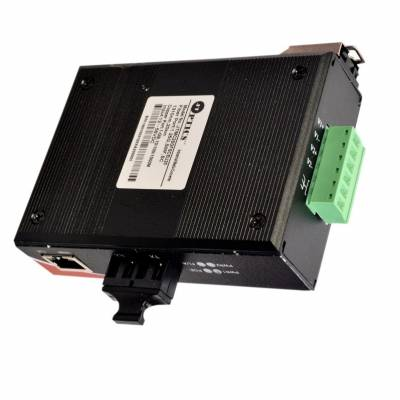 GIGABITE INDUSTRIAL ETHERNET TO FIBER MEDIA CONVERTER SM 20KM