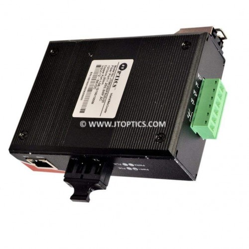Industrial Gigabite media converter over single mode dual fiber with SC connector upto 20km or 1000basetx to 1000basefx - unmanaged