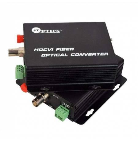 HDCVI video to optical converter single mode 20km – 1 channel 1080p - pair