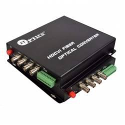 HDCVI video to optical converter single mode 20km – 4 channel 1080p - pair