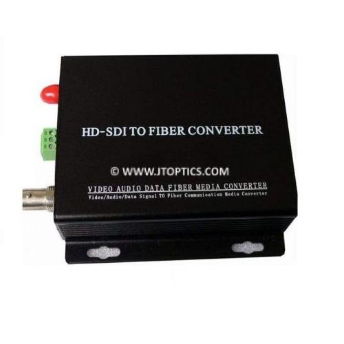 HD-SDI VIDEO TO OPTICAL FIBER CONVERTER SINGLE MODE 10KM - PAIR