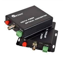HDTVI video to optical converter single mode 20km – 1 channel 1080p - pair