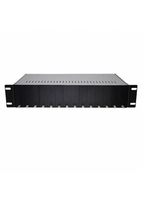 MEDIA CONVERTER CHASSIS 14 SLOTS WITH DUAL POWER SUPPLY