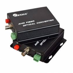 1 channel analog hd 720p cctv video optical fiber transmitter and receiver with rs485 ptz over single mode ofc, fc, 20km pair