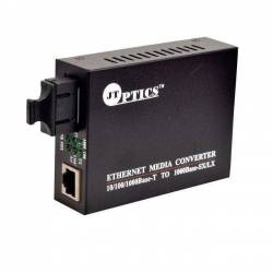 1000base-t to 1000base-fx ethernet ofc converter, sm dual fiber, 1310nm, sc, 20km unmanaged