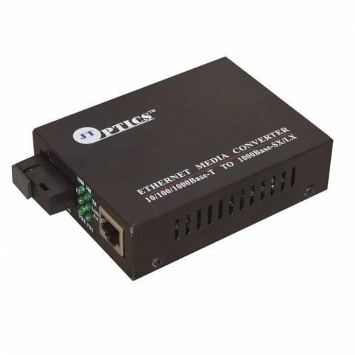 Gigabit Ethernet Media Converter Single Mode Single Fiber, SM, Sc, 1310nm, 20km Unmanaged Pair JTSMC2SSFSCEU20 Ethernet Converter