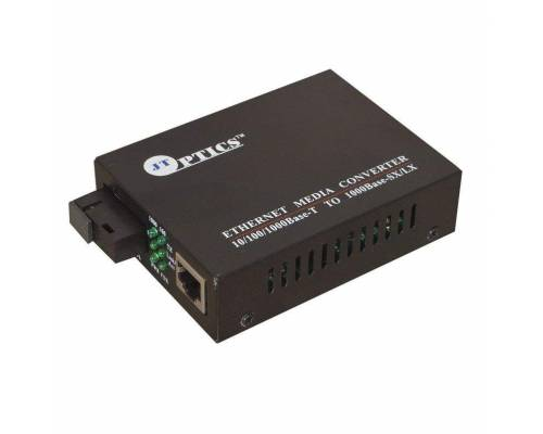 Gigabit ethernet media converter sm single fiber, sc 1310nm, 20km unmanaged Pair