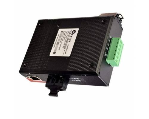 Gigabite Industrial media converter sm dual fiber, 1310nm, sc, 20km unmanaged