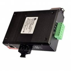 Gigabite Industrial Ethernet Media Converter SM Dual Fiber, 1310nm, Single Mode, Sc, 20km Unmanaged