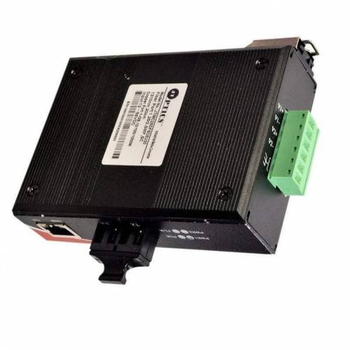 Gigabite Industrial Ethernet Media Converter SM Dual Fiber, 1310nm, Single Mode, Sc, 20km Unmanaged JTIMC2SDFSCEU20 Ethernet Converter