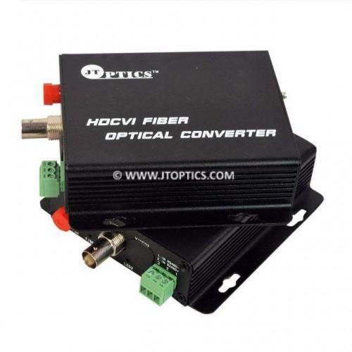 1 Channel hdcvi 1080p cctv video and rs485 ptz data to single mode fiber optical media converter 20km - Pair