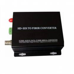 Hd-sdi video to single mode optical fiber media converter 10km - transmitter and receiver
