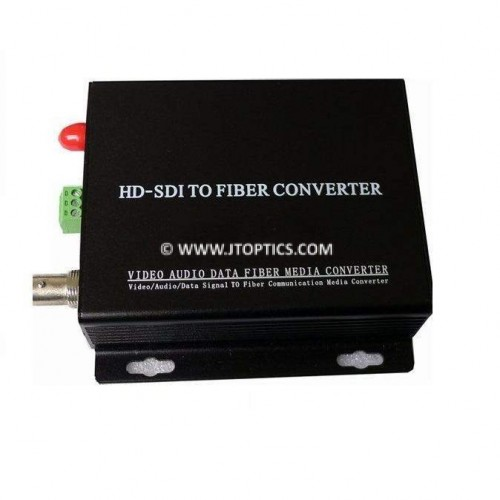 Hd-sdi video to single mode optical fiber media converter 10km - transmitter and receiver
