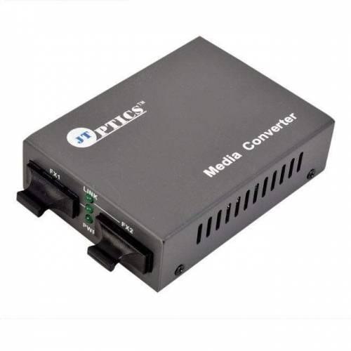 Multimode to Single Mode Media Converter, MM to SM Optical Fiber Converter, Sc Dual fiber , 20km Unmanaged JTSMC1SCEU20 Ethernet Converter
